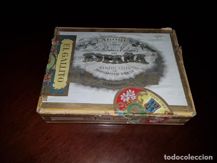 CAJA DE PUROS VACÍA - LABORES PARA LA RENTA DE TABACOS DE ESPAÑA - CANARIAS (Coleccionismo - Objetos para Fumar - Cajas de Puros)