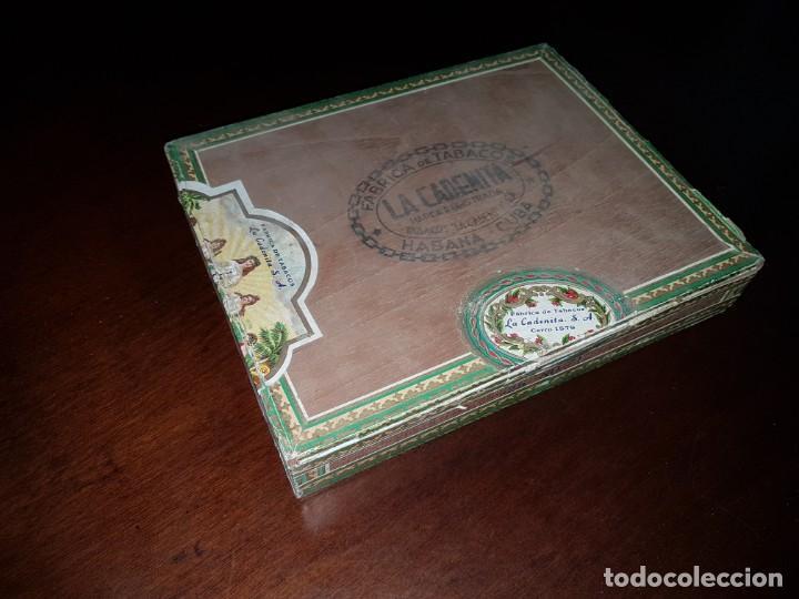 CAJA DE PUROS VACÍA - LA CADENITA - HABANA - CUBA (Coleccionismo - Objetos para Fumar - Cajas de Puros)