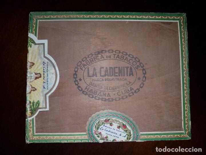 Cajas de Puros: Caja de puros vacía - La Cadenita - Habana - Cuba - Foto 2 - 194198547