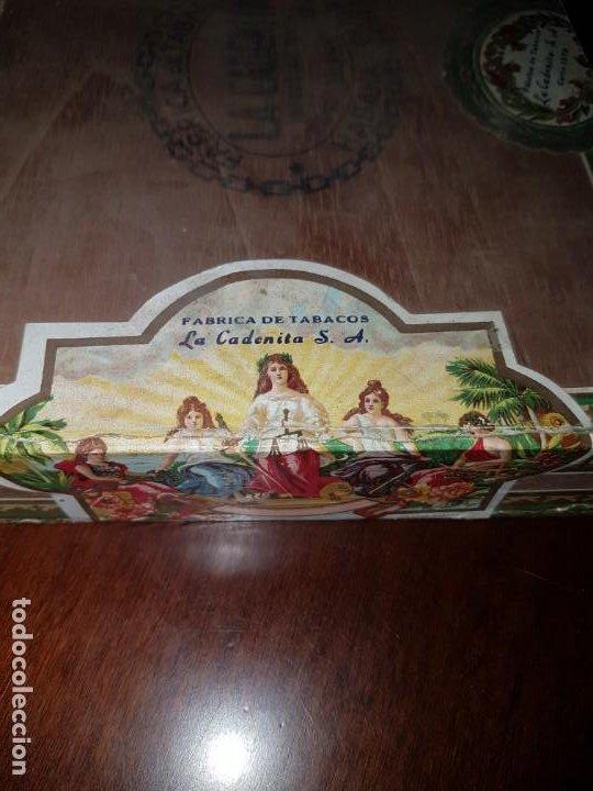 Cajas de Puros: Caja de puros vacía - La Cadenita - Habana - Cuba - Foto 5 - 194198547