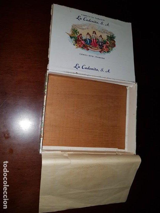 Cajas de Puros: Caja de puros vacía - La Cadenita - Habana - Cuba - Foto 12 - 194198547