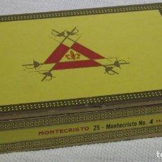 Cajas de Puros: CAJA PUROS MONTECRISTO N4 CON 5 PUROS, SIN SELLO NI PRECINTO. . Lote 194198558