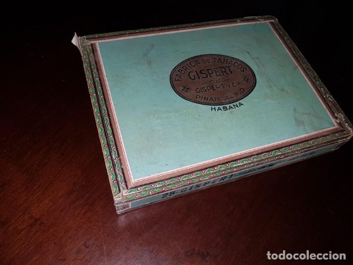 CAJA DE PUROS VACÍA - GISPERT - PINAR DEL RIO - HABANA (Coleccionismo - Objetos para Fumar - Cajas de Puros)