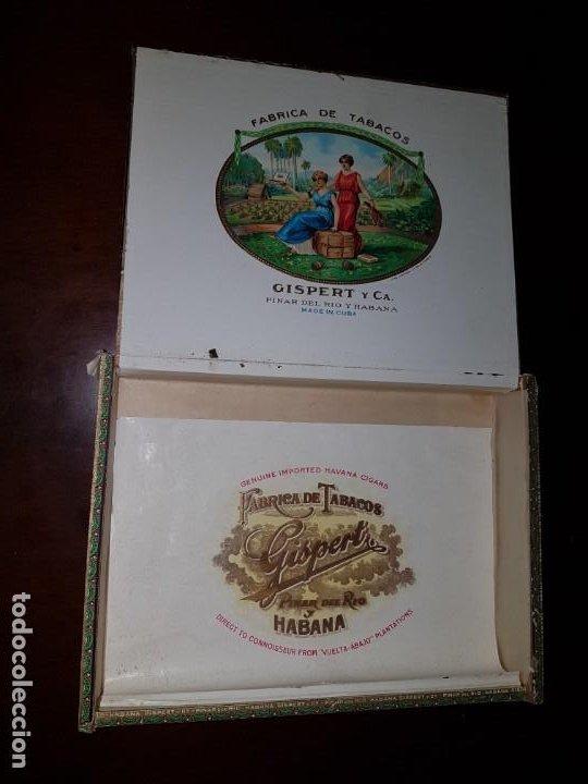 Cajas de Puros: Caja de puros vacía - Gispert - Pinar del Rio - Habana - Foto 10 - 194199085