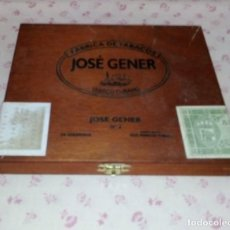Cajas de Puros: * VA 04 - CAJA DE PUROS - JOSE GENER - CUBANO - VACIA. Lote 194265731