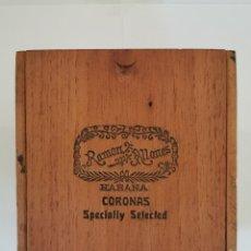 Cajas de Puros: CAJA DE PUROS VINTAGE CUBAN CIGAR BOX RAMON ALLONES CORONAS SPECIALLY SELECTED. Lote 194274480