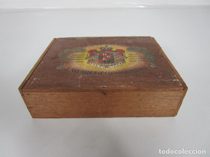 Cajas de Puros: Caja de Puros Vacía, Gran Fabrica de Tabacos y Puros - La Aroma de Cuba - J. Alvarez y Cª, La Habana - Foto 2 - 194295413