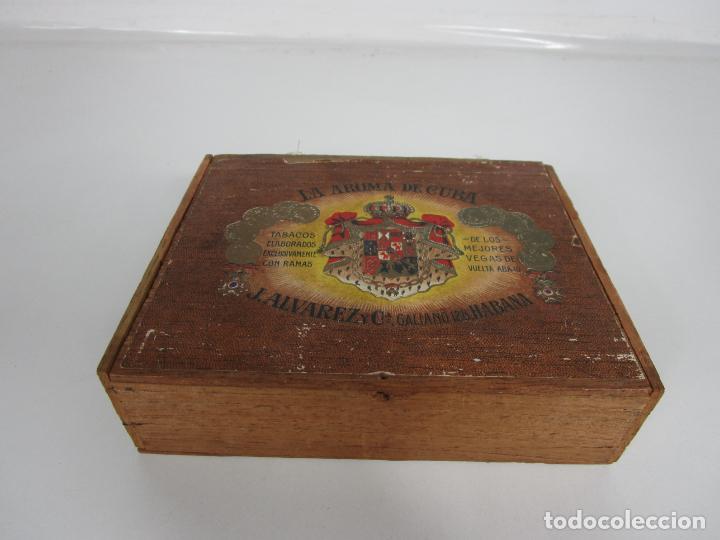 Cajas de Puros: Caja de Puros Vacía, Gran Fabrica de Tabacos y Puros - La Aroma de Cuba - J. Alvarez y Cª, La Habana - Foto 9 - 194295413