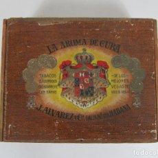 Cajas de Puros: CAJA DE PUROS VACÍA, GRAN FABRICA DE TABACOS Y PUROS - LA AROMA DE CUBA - J. ALVAREZ Y Cª, LA HABANA. Lote 194295413