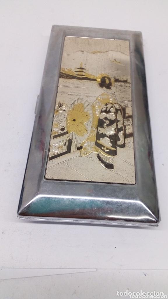 PITILLERA SANDY CAJA DE TABACO GRABADO JAPONÉS (Coleccionismo - Objetos para Fumar - Cajas de Puros)