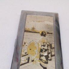 Cajas de Puros: PITILLERA SANDY CAJA DE TABACO GRABADO JAPONÉS . Lote 194310457