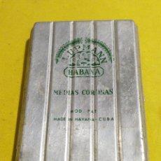 Cajas de Puros: ANTIGUA LATA CAJA H.UPMANN PUROS HAVANA CUBA. Lote 194341238
