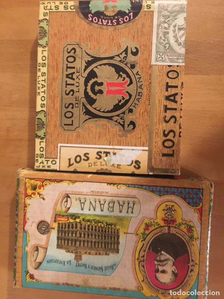 Cajas de Puros: Los Statos de Luxe Selectos and Pipe Tabaco 1970's, caja puros, cigar box, habanos - Foto 2 - 194341403