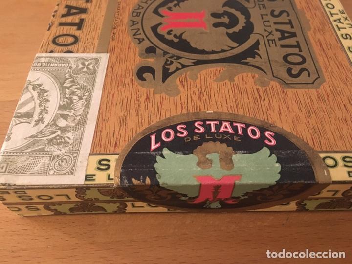 Cajas de Puros: Los Statos de Luxe Selectos and Pipe Tabaco 1970's, caja puros, cigar box, habanos - Foto 4 - 194341403