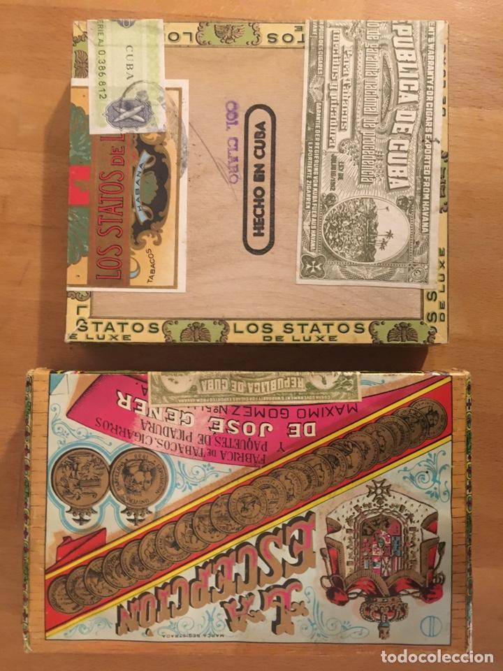 LOS STATOS DE LUXE SELECTOS AND PIPE TABACO 1970'S, CAJA PUROS, CIGAR BOX, HABANOS (Coleccionismo - Objetos para Fumar - Cajas de Puros)