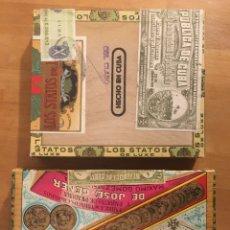 Cajas de Puros: LOS STATOS DE LUXE SELECTOS AND PIPE TABACO 1970'S. Lote 194341403