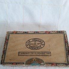 Cajas de Puros: CAJA DE PUROS VACIA LA PRUEBA, CARAMELOS ALFONSO XIII. Lote 194400396