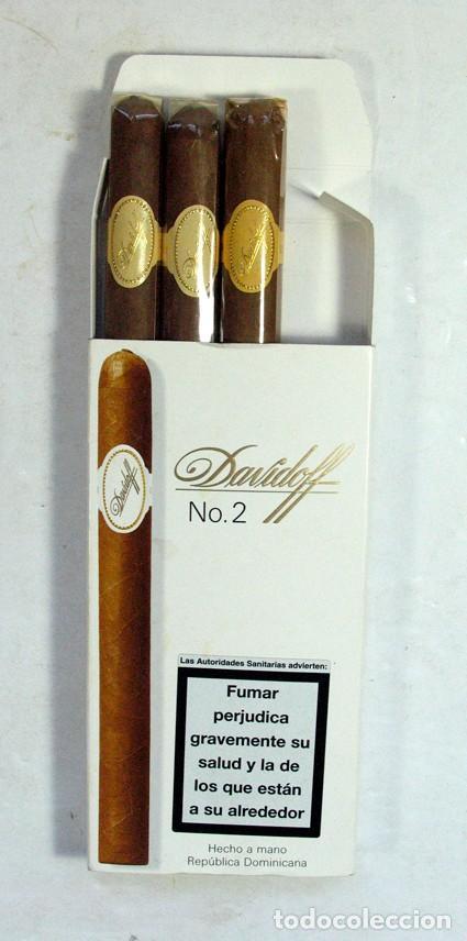 CAJA PUROS DAVIDOFF Nº 2 GENEVA. CONSERVA 3 PUROS (Coleccionismo - Objetos para Fumar - Cajas de Puros)