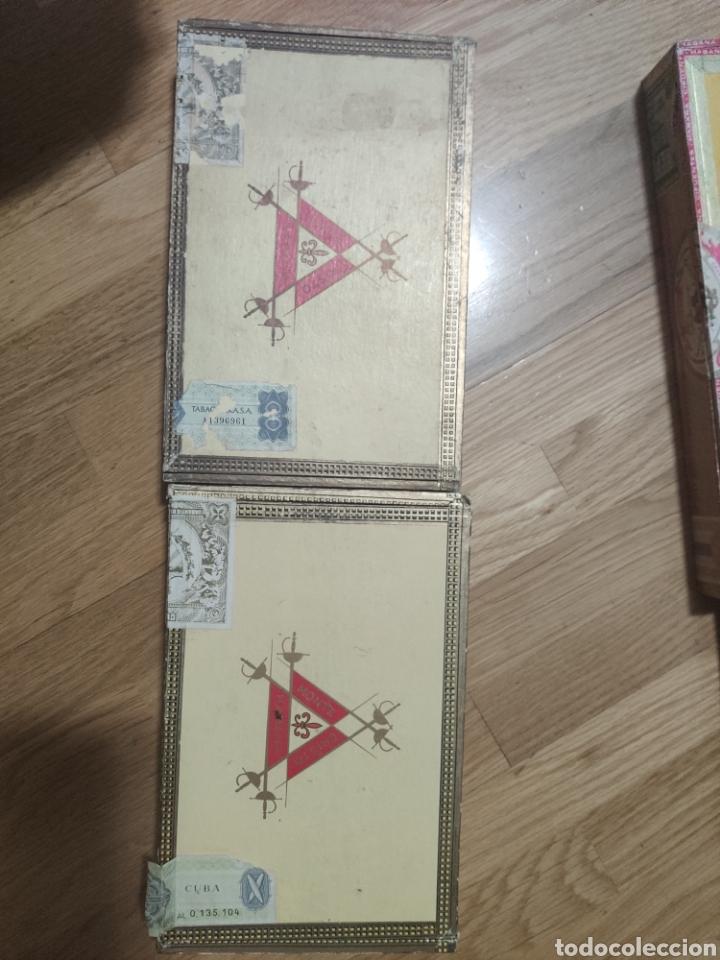 2 CAJAS DE PUROS HABANOS MONTECRISTO, VACÍAS (Coleccionismo - Objetos para Fumar - Cajas de Puros)