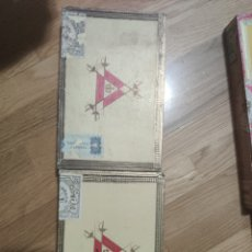 Cajas de Puros: 2 CAJAS DE PUROS HABANOS MONTECRISTO, VACÍAS. Lote 194533050