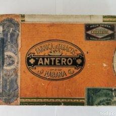 Cajas de Puros: CAJA DE PUROS VINTAGE CUBAN CIGAR BOX ANTERO PETIT CETROS. Lote 194592071