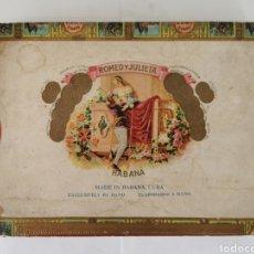 Cajas de Puros: CAJA DE PUROS VINTAGE CUBAN CIGAR BOX ROMEO Y JULIETA HABANEROS. Lote 194594902