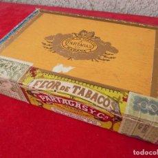 Cajas de Puros: PARTAGAS-ANTIGUA CAJA PUROS(VACIA)·FLOR DE TABACO-PARTAGAS Y CIA-25 HABANEROS=ANT.SELLO TABACALERA. Lote 194599171