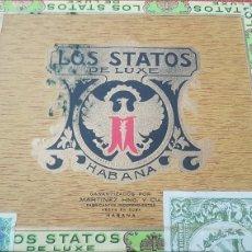 Cajas de Puros: CAJA DE PUROS HABANOS LOS STATOS DE LUXE CERRADA FULL. Lote 194652153
