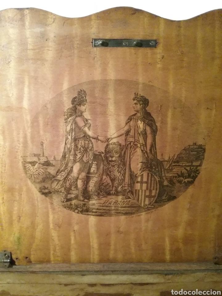 Cajas de Puros: Espectacular caja de puros de madera con marqueteria para don José Gallostra, ministro de Hacienda - Foto 3 - 194661305