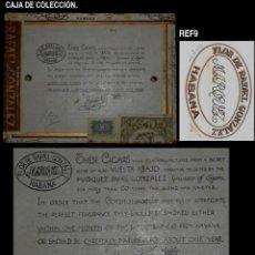 Cajas de Puros: CAJA VACÍA DE PUROS FLOR DE RAFAEL GONZALEZ MARQUEZ - HABANA - RARA - REF9. Lote 193826153