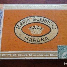 Cajas de Puros: ANTIGUA CAJA DE CIGARROS MARIA GUERRERO LA HABANA 25 BOUQUETS MADE IN HAVANA CUBA. Lote 194684362