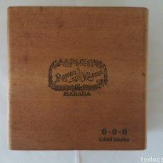Cajas de Puros: CAJA DE PUROS VINTAGE CUBAN CIGAR BOX RAMON ALLONES CABINET SELECTION ENVIO INCLUIDO. Lote 194700255
