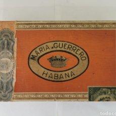 Cajas de Puros: CAJA DE PUROS VINTAGE CUBAN CIGAR BOX MARIA GUERRERO BOUQUETS ENVIO INCLUIDO. Lote 194700501