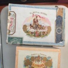 Cajas de Puros: 2 CAJAS DE PUROS CUBA , H UPMANN Y EL REY DEL MUNDO , VACIAS. Lote 194723311