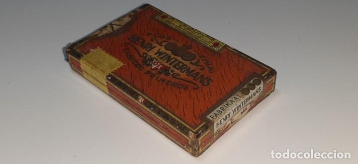 ANTIGUA CAJITA DE PUROS TABACO CIGARRILLOS FLOR FINA - HENRY WINTERMANS - SENORITAS - HOLANDA (Coleccionismo - Objetos para Fumar - Cajas de Puros)