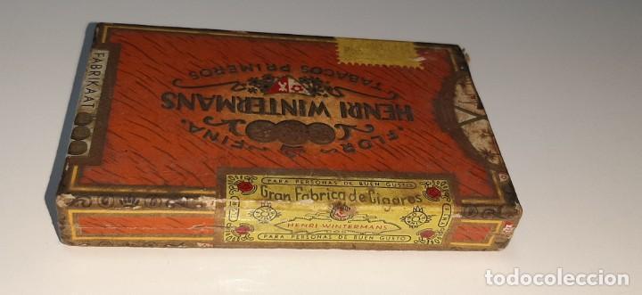 Cajas de Puros: ANTIGUA CAJITA DE PUROS TABACO CIGARRILLOS FLOR FINA - HENRY WINTERMANS - SENORITAS - HOLANDA - Foto 5 - 194749391