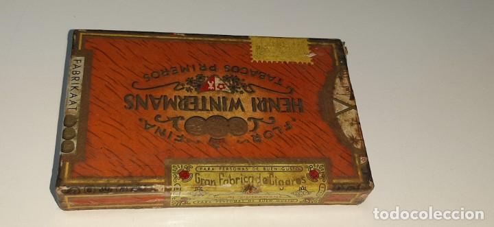 Cajas de Puros: ANTIGUA CAJITA DE PUROS TABACO CIGARRILLOS FLOR FINA - HENRY WINTERMANS - SENORITAS - HOLANDA - Foto 6 - 194749391