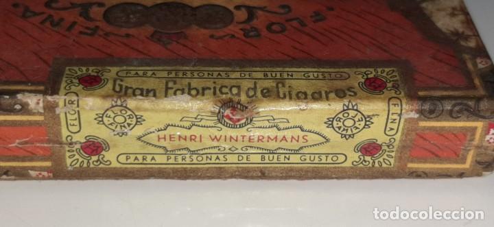 Cajas de Puros: ANTIGUA CAJITA DE PUROS TABACO CIGARRILLOS FLOR FINA - HENRY WINTERMANS - SENORITAS - HOLANDA - Foto 8 - 194749391