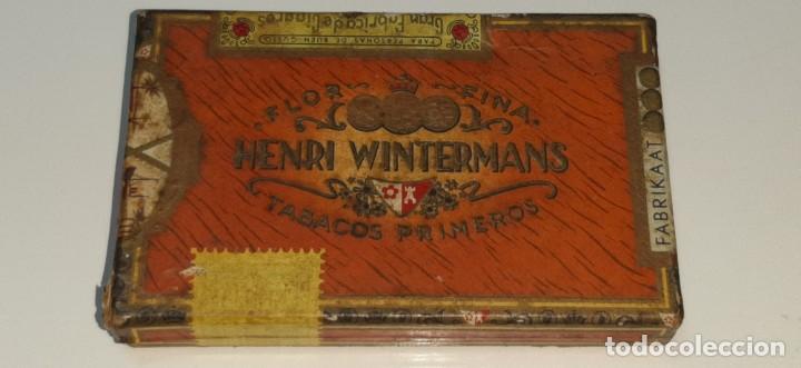 Cajas de Puros: ANTIGUA CAJITA DE PUROS TABACO CIGARRILLOS FLOR FINA - HENRY WINTERMANS - SENORITAS - HOLANDA - Foto 13 - 194749391