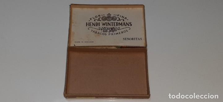 Cajas de Puros: ANTIGUA CAJITA DE PUROS TABACO CIGARRILLOS FLOR FINA - HENRY WINTERMANS - SENORITAS - HOLANDA - Foto 16 - 194749391