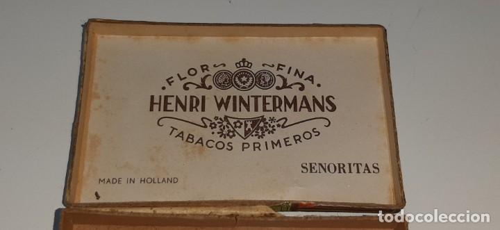 Cajas de Puros: ANTIGUA CAJITA DE PUROS TABACO CIGARRILLOS FLOR FINA - HENRY WINTERMANS - SENORITAS - HOLANDA - Foto 17 - 194749391