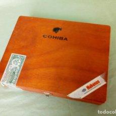 Cajas de Puros: COHIBA, CAJA DE PUROS CUBANOS, HECHOS A MANO. VACIA.. Lote 194788808