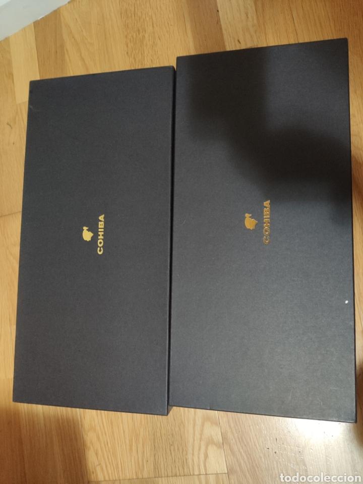 2 CAJAS DE PUROS HABANOS, COHIBA SIGLO VI, TUBOS VACÍAS (Coleccionismo - Objetos para Fumar - Cajas de Puros)