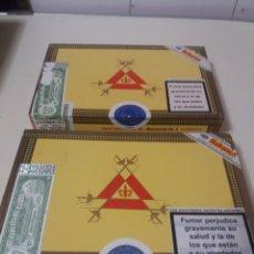 Cajas de Puros: LOTE 2 CAJAS DE PUROS HABANOS MONTECRISTO N°4 VACIAS CUBA.. Lote 194906030