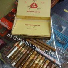 Cajas de Puros: LOTE VARIADO DE PUROS DIVERSAS MARCAS COLECCIONADOS EN CAJA DE MONTECRISTO. VER FOTOS. Lote 194932420