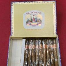 Cajas de Puros: ANTIGUA CAJA DE PUROS HABANOS SUPER PARTAGAS (INCOMPLETA 9 UD.). Lote 194940393