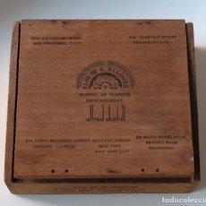 Cajas de Puros: CAJA VACÍA DE PUROS FLOR DE ALLONES PARA DUNHILL SELECCION SUPREMA-NATURAL CLARO. Lote 195019633