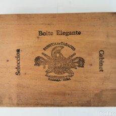 Cajas de Puros: CAJA DE PUROS VINTAGE CUBAN CIGAR BOX TROYA CORONAS SIGLO ENVIO INCLUIDO. Lote 195085170