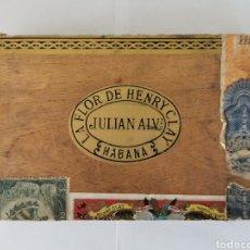 Cajas de Puros: CAJA DE PUROS VINTAGE CUBAN CIGAR BOX HENRY CLAY REGALIA AROMATICA ENVIO INCLUIDO. Lote 195085343