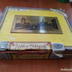 Cajas de Puros: RARA CAJA DE PUROS VACIA FLOR DE TABACO PARTAGAS 25 LUSITANAS MIRAR FOTOS . Lote 195101480